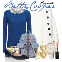 Cute Fashion, Women's Fashion, Fashion Design, Riverdale Set, Betty Cooper Outfits, Autumn Winter Fashion, Autumn Fashion, Riverdale Fashion, Preppy Casual