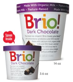 Chocoholics, rejoice! Cocoa, and lots of it, makes for a deeply dark chocolate ice cream treat that's smooth, creamy and richly satisfying. #BrioLovesYouBack