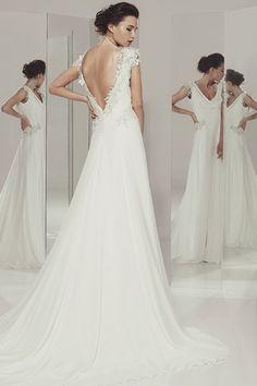Angelica - Ivan Campaña - Vestido Evase con estote en espalda #vestidosdenovia #noviasespeciales #noviasexclusivas #vestidos #bodas #novias