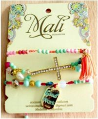 Pulsera, Mali Charmed, Bracelets, Jewelry, Stud Earrings, Accessories, Jewlery, Jewerly, Schmuck, Jewels