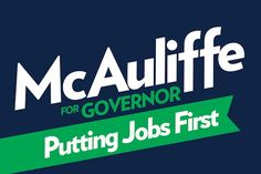 L-I-E-R!! I've met McAuliffe and after failing in other states including past shot in VA, this scum is at it again only with Bloomberg NY $$. Please VA...don't be fooled. This man has NO clue about anything but raising money. Stay true to your voting record of putting the opposite party in Richmond than sits in DC!
