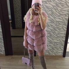 Vivian fox fur vest by @aria.moda via aria-moda.com ✨ Free DHL shipping! Follow @aria.moda