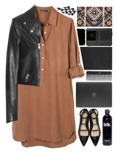 """""""Leather flats"""" by klaris-kon ❤ liked on Polyvore featuring United by Blue, Yves Saint Laurent, 3.1 Phillip Lim, New Look, Sephora Collection, Incase, Donna Karan, Smythson, Revo and Universal Lighting and Decor"""
