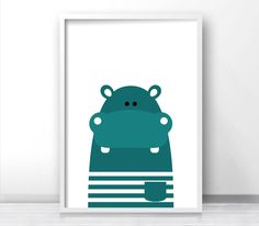 Printable Kids Wall Art, Modern Kids Art, Hippo Nursery Art, Animal Print For Nursery, Kids Print, Instant Download Printable Nursery Art by LimitationFree on Etsy https://www.etsy.com/listing/274246996/printable-kids-wall-art-modern-kids-art