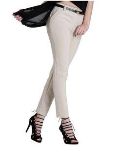 ΝΕΕΣ ΑΦΙΞΕΙΣ :: Υφασμάτινο Παντελόνι Wrap Your Body Beige - OEM Capri Pants, Fashion, Moda, Capri Trousers, Fashion Styles, Fashion Illustrations