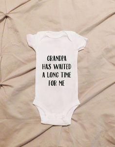 Grandpa Onesie or T-Shirt First Grandchild Soon by HappilyEverAlva