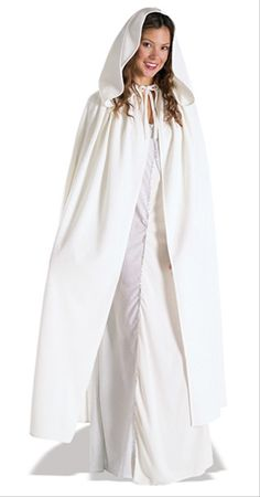 4eb8a3c349860 The Arwen White Cloak Adult Halloween Accessory lets you be a Middle-Earth  hero. It is made of a long