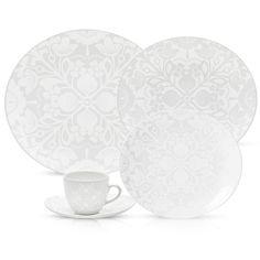 Aparelho de Jantar/Chá 30 Peças Lace White - Oxford -Utilidades domésticas - De 21 a 30 peças - Walmart.com