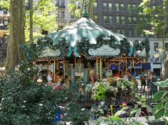 Bryant Park Carousel, NYC (In back of the NY Public Library main branch between 5th & 6th Avenues on 42nd/43rd Streets..)