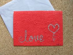 handmade greeting card love. by AmoryPapel on Etsy, $5.00