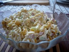 PS.GOTUJEMY: Sałatka z makaronem, świeżym ogórkiem i kukurydzą Potato Salad, Cabbage, Salads, Potatoes, Vegetables, Cooking, Ethnic Recipes, Food, Kitchen