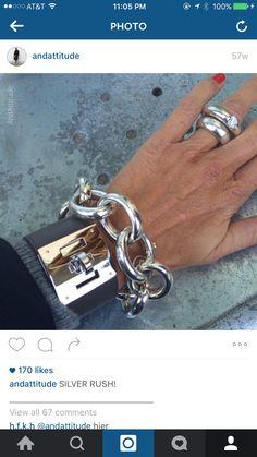 Hermes Ring, Hermes Jewelry, Hermes Bracelet, Ring Bracelet, Silver Bracelets, Bangle Bracelets, Silver Jewelry, Fine Jewelry, Jewelry Box