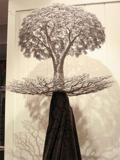 Beautiful wire tree sculptures