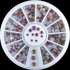 1-Sets Fanciness Popular 3D Acrylic Rhinestones Nails Art Wheel Decorations Full Design Salon Supplies Pattern Style -34 -- Find out more about the great product at the image link.