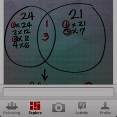 Factors multiples and primes lessons include identifying multiple gcf using venn diagram teaching ideasteaching ccuart Image collections