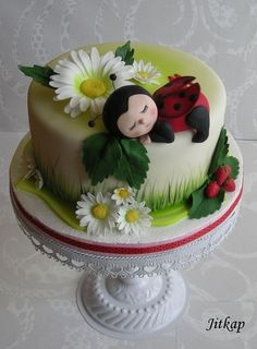 Children Are A Ladybug Cake  on Cake Central