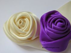 Make a ribbon rolled rosette
