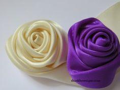 Make a ribbon rolled rosette