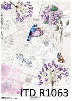 Zapach kwiatów - papier ryżowy ITD Collection