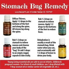 Essential oils to help with the Stomach Flu! Visit www.thelivingdrop.com for more helpful oil tips for your family!
