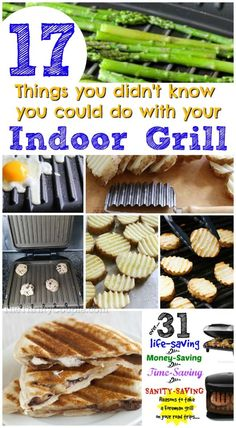 17 Things You Didn't Know You Could Do With Your Foreman Grill Ways to use your George Foreman Grill and lots of recipe and kitchen hacks with your indoor grill to make life easy and cook fast and fresh. George Foreman Grill, George Foreman Recipes, Granola, Pellet Grill Recipes, Grilling Recipes, Grilling Tips, Healthy Grilling, Panini Grill Recipes, Grill Panini