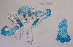 Water Fall is a funny Pegasus who love water and everything in it.. Her and her daughter, Pink Lemonade do every thing together.. 40 bits to adopt.
