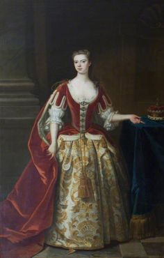"""Elizabeth Cartwright, Viscountess Tyrconnel"", Enoch Seeman the younger, ca. 1735; NT 436032"