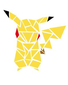 Geometric Pokemon Pikachu Digital Print by TaracottaSunrise
