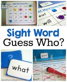 Sight Word Guess Who? - FREE Pack for Dolch words PP through 3rd grades | This Reading Mama