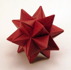 origami christmas ornaments: Red Origami Star Christmas Or Nt Simple Nts D Il Full ~ tattletot Origami Christmas Ornament, Origami Ornaments, Star Ornament, Christmas Star, Christmas Crafts, Christmas Decorations, Christmas Ornaments, Christmas Snowflakes, Christmas Trees