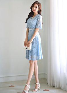 Korean Women`s Fashion Shopping Mall, Styleonme. Fashion Models, Girl Fashion, Fashion Dresses, Womens Fashion, Fashion Design, Belle Silhouette, Korean Dress, Beautiful Asian Women, Korean Women