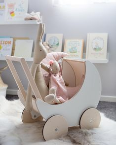 These beautiful Ooh Noo Prams have just arrived back in stock today! Makes a gorgeous Christmas gift! Baby Bedroom, Kids Bedroom, Toddler Toys, Baby Toys, Kids Toys, Baby Playroom, Baby Gadgets, Baby Furniture, Furniture Chairs