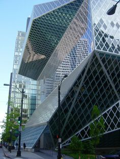 Seattle Public Library...I live 30 minutes away from this and I STILL have yet to go inside!