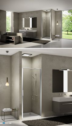 stila 2000 • this full-framed shower door shows high stability, without losing a sense for contemporary design. The door grip, directly mounted on the profile, integrates itself with the characteristically vertical lines of this niche situation.