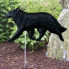 Belgian Sheepdog Dog Figure Yard Garden Stake. Home Yard & Garden Dog Products