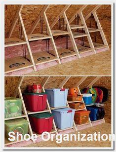 DIY Tiny House Storage And Organization Ideas On A Budget DIY winziges Haus Lagerung und Organisation Ideen mit kleinem Budget Storage Shed Organization, Storage Hacks, Garage Storage, Storage Ideas, Bedroom Organization, Food Storage, Storage Solutions, Craft Storage, Storage Baskets