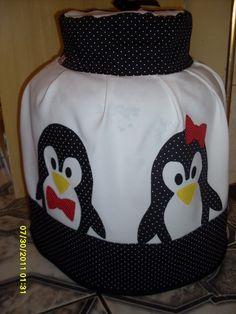 Capa para Botijão de gás - Pinguim