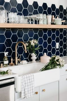 Wit Delight Kitchen Backsplash Fireclay Tile