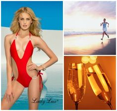 Celebrate your new, healthier eating habits with this Pretty Woman Red Monokini