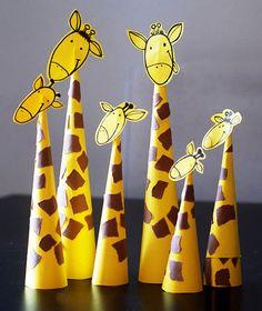 Zürafa yapımı, etkinlikleri el işleri çalışması ve örnekleri kağıttan kartondan basit kolay etkinliği çalışmaları. Preschool activities craft site.