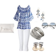 Summer Blue, created by #phillc on #polyvore. #fashion #style True Religion Antik Batik