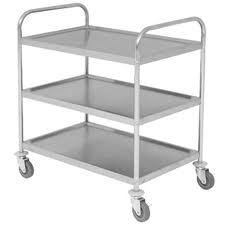 3 Tier Stainless Steel Catering Trolley - Food Trolley - Clearing Trolley - NEW | eBay