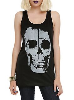 Skull Girls Tank Top, BLACK