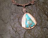 Chester County has Talent - Whimsies - Turquoise and copper necklace