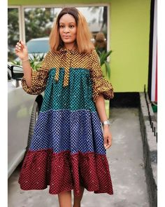 - Source by - Short African Dresses, Latest African Fashion Dresses, African Print Dresses, African Print Fashion, Africa Fashion, Ankara Fashion, African Prints, African Fabric, Short Dresses