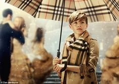 11/3/14.   Beckham is back: Romeo, 12, has been unveiled as the star of Burberry's Christmas campaign and proves he's following in his mother Victoria's fashionable footsteps showcasing his style credentials in the new imagery