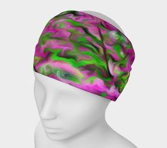 """Headband+""""Swirly+Abstract+Painted+Floral+Design+Headband""""+by+Scott+Hervieux+Photography,+Art,+and+More"""