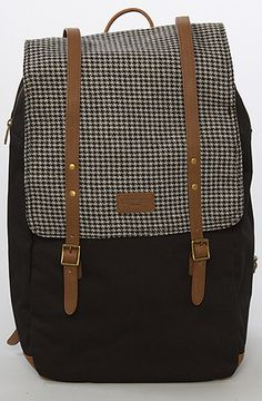 The Noreaster Map Backpack in Black by Obey