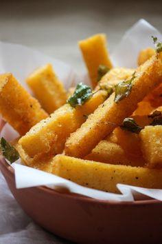 Polenta chips, gluten free sides, the life harvest, food blog, gluten free appetizers, polenta, fried polenta, crispy chips, crispy polenta