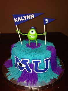 Monsters inc cake homemade Homemade Goodies Pinterest Themed